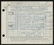 Entry card for McMillen, Dorothy Ruby for the 1958 May Show.