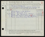 Entry card for MacKenzie, John D. for the 1958 May Show.