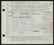 Entry card for Meyers, Marjo for the 1958 May Show.