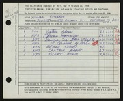 Entry card for Richards, William for the 1958 May Show.
