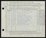 Entry card for Rosin, Ira for the 1958 May Show.