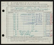 Entry card for Someroski, James Melvin for the 1958 May Show.