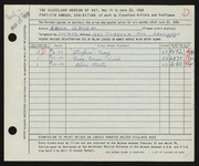 Entry card for Ursem, Edna for the 1958 May Show.