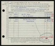Entry card for Van Duzer, Clarence E. for the 1958 May Show.
