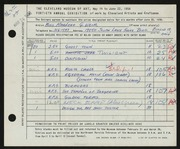 Entry card for Weir, Marlene G. for the 1958 May Show.