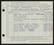 Entry card for Wilkenloh, Lillian for the 1958 May Show.