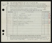 Entry card for Wilson, Thomas for the 1958 May Show.