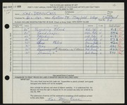 Entry card for Cass, Katherine Dorn for the 1959 May Show.