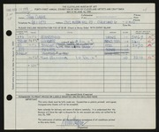 Entry card for Clague, John for the 1959 May Show.