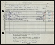 Entry card for David, Adeline Wilkens for the 1959 May Show.