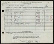 Entry card for Gage, Marian Royce for the 1959 May Show.