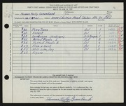 Entry card for Greenbank, Thomas Kelly for the 1959 May Show.