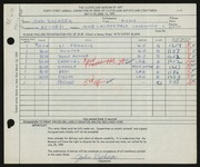 Entry card for Kuchera, John for the 1959 May Show.