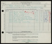 Entry card for Manning, Wray for the 1959 May Show.