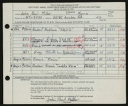 Entry card for Miller, John Paul for the 1959 May Show.