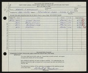 Entry card for Newhouse, Robert J. for the 1959 May Show.