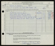Entry card for Pearl, Moses P. for the 1959 May Show.