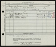 Entry card for Pillot, Larry W. for the 1959 May Show.