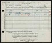 Entry card for Prekop, Martin for the 1959 May Show.
