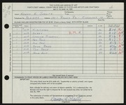 Entry card for Shewitz, Newson H. for the 1959 May Show.