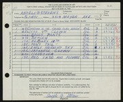 Entry card for Stevens, Angelo for the 1959 May Show.