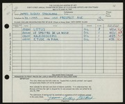 Entry card for Strickland, James Dudley for the 1959 May Show.