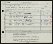 Entry card for Travis, Paul Bough for the 1959 May Show.