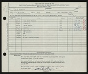 Entry card for Van Duzer, Clarence E. for the 1959 May Show.