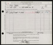 Entry card for Clague, John for the 1960 May Show.