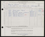 Entry card for Eglet, Norita Ann for the 1960 May Show.