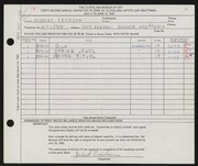 Entry card for Friedson, Herbert Harold for the 1960 May Show.