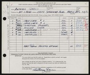 Entry card for Greco, Anthony Joseph for the 1960 May Show.