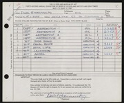 Entry card for Hodermarsky, Daniel for the 1960 May Show.