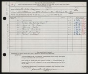 Entry card for Jameyson, Jeannette Allen for the 1960 May Show.