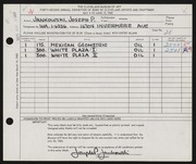 Entry card for Jankowski, Joseph Paul for the 1960 May Show.