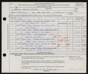Entry card for Jeffery, Charles Bartley, and Wooddell, Joseph M. for the 1960 May Show.