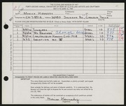 Entry card for Kennedy, Monica for the 1960 May Show.