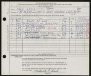 Entry card for Leach, Frederick Bennet for the 1960 May Show.