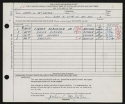 Entry card for McIntire, John L. for the 1960 May Show.