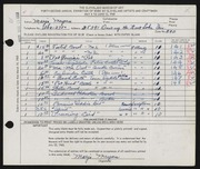 Entry card for Meyers, Marjo for the 1960 May Show.