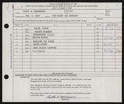 Entry card for Morrison, Ruth K. for the 1960 May Show.