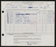 Entry card for Olson, Philip I. for the 1960 May Show.
