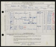 Entry card for Peters, James D. for the 1960 May Show.