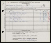 Entry card for Shewitz, Newson H. for the 1960 May Show.