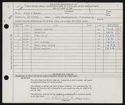 Entry card for Thayer, Allyn K. for the 1960 May Show.