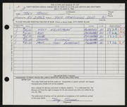 Entry card for Tomsic, Tony for the 1960 May Show.