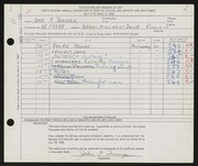 Entry card for Trauger, John F. for the 1960 May Show.