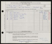 Entry card for Wennerstrom, Marge for the 1960 May Show.