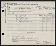 Entry card for Brown, James T. for the 1961 May Show.