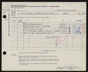 Entry card for Bulone, Joseph  for the 1961 May Show.